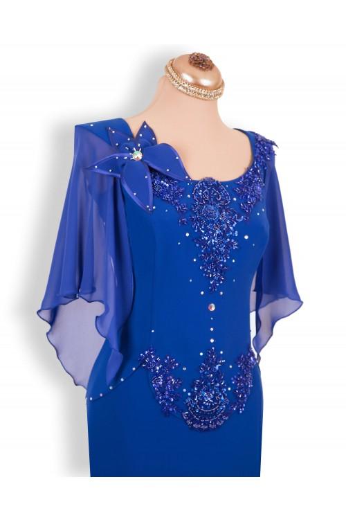 Rochie de Seara Eleganta Lunga Albastra Marimi Mari XXL 2020