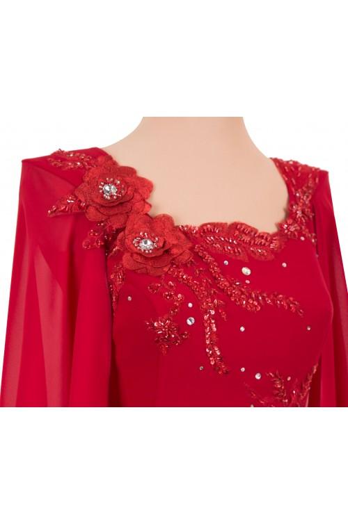Rochie de Soacra Plamanie Eleganta Lunga pentru Marimi Mari xxl