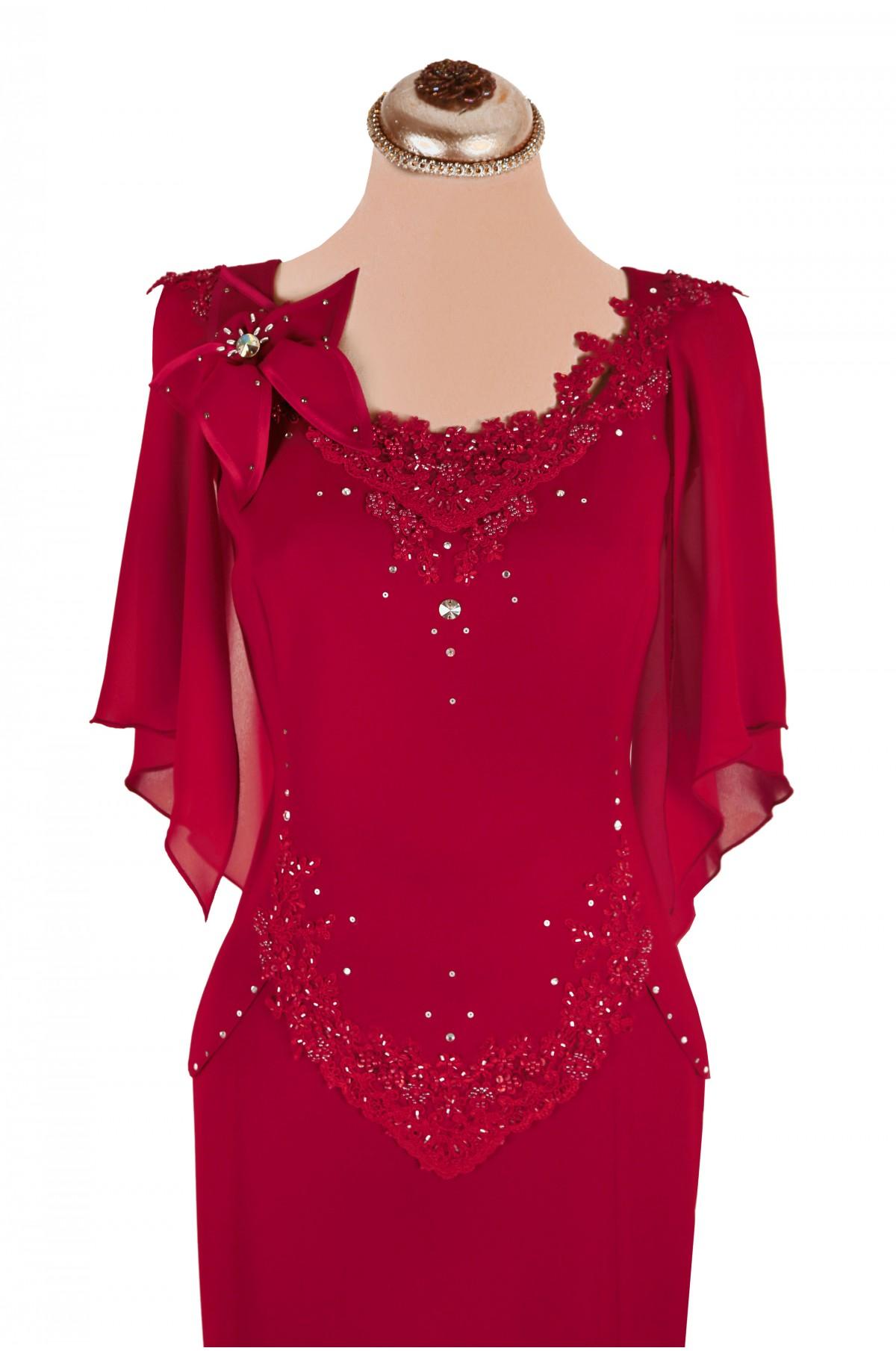 comercializează informatii pentru coduri promoționale Rochii de ocazie elegante lungi de seara rosii pentru soacra, nasa