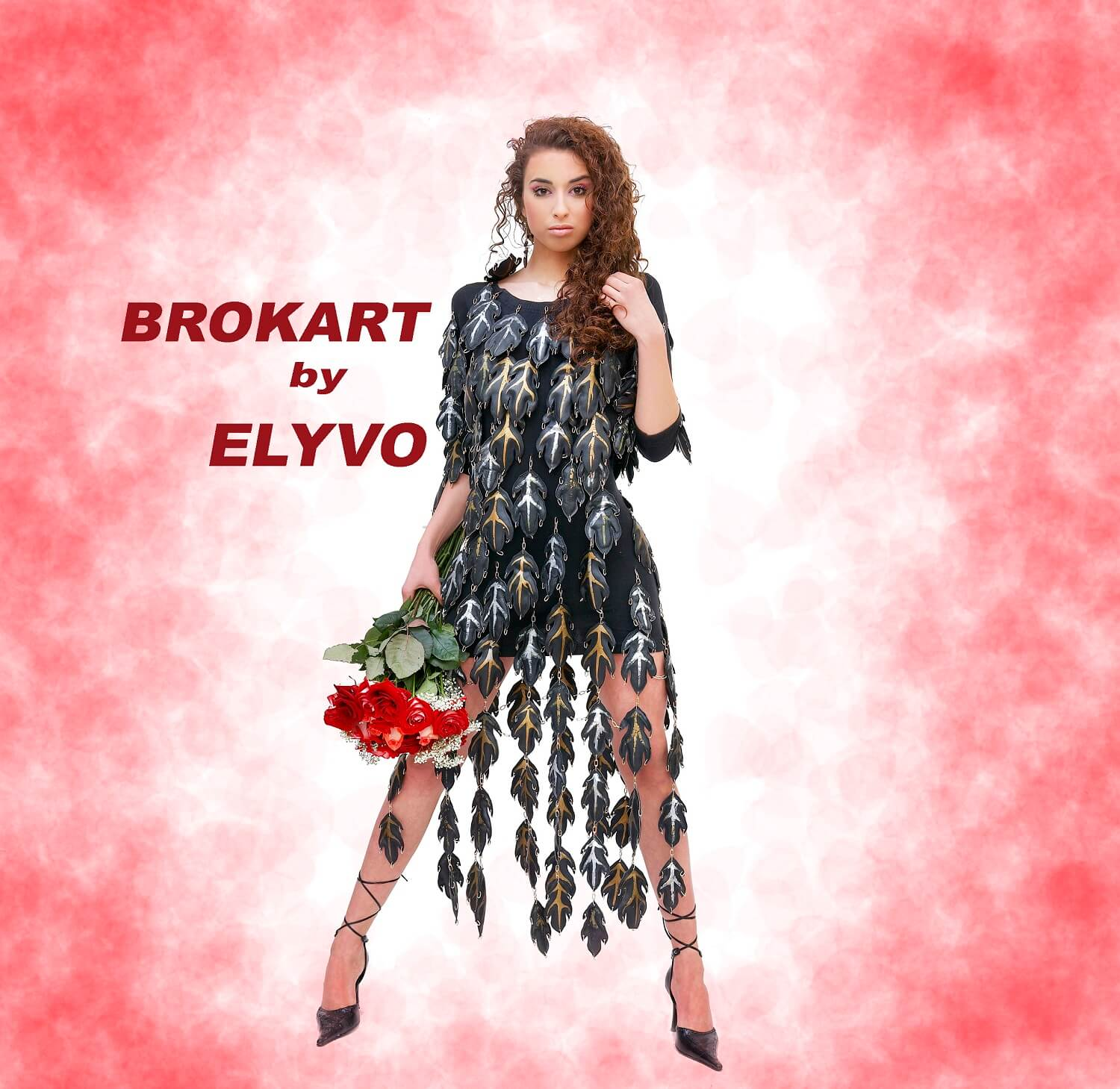 Timeless, Brokart Elyvo gowns capture the essence and touch ladies with style, remaining in their wardrobe for many years. One of these dresses we have also today as an image in the presentation of video and photo online ... It's a dress handmade from leather leaves cut and painted manually, that we didn't even believe at that time we will use it today ...